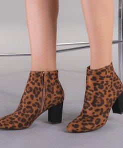 Botine dama Vega leopard