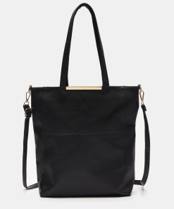 Sinsay - Geantă shopper - Negru