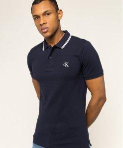 Tricou polo Calvin Klein Jeans J30J314565 Portocaliu