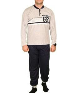Pijama gri Sixty-Eight pentru barbat - cod 39858