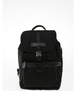 Michael Kors EST 1981 Fabric KENT Backpack with Drawstring BLACK