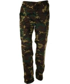 Pantaloni bărbați BDU, modelul woodland