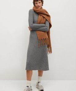 Rochie midi tricotata cu striatii Flus 3263841