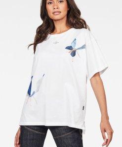 Tricou din bumbac organic cu imprimeu cu fluturi 2766286