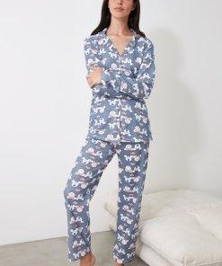 Pijama cu pantaloni lungi si imprimeu Minnie Mouse 3312411