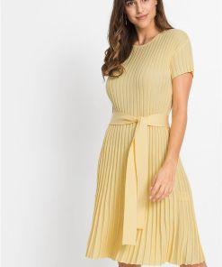 Rochie tricotată - galben