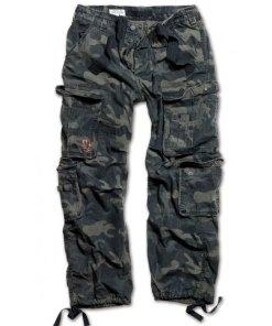 Pantaloni Surplus Vintage, black-camo