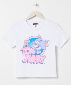 Sinsay - Tricou Tom & Jerry - Alb
