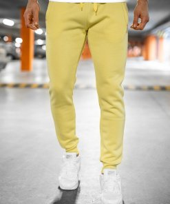 Pantaloni galben-neon de trening Bolf XW01