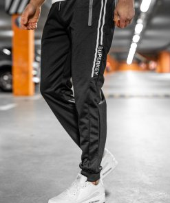 Pantaloni de trening negri Bolf JX1058