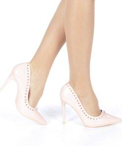 Pantofi stiletto Desiree roz
