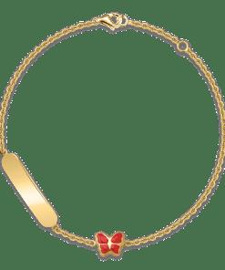 Bratara pentru copii cu fluturas din aur galben de 14K 18783