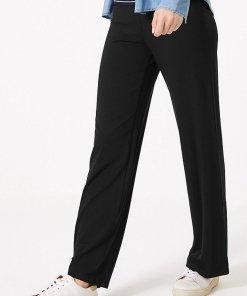 Pantaloni evazati cu talie elastica 2563432