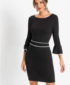 Rochie cu nasturi deco - negru