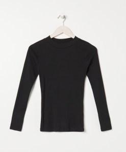 Sinsay - Tricou ECO AWARE cu mânecă lungă - Negru