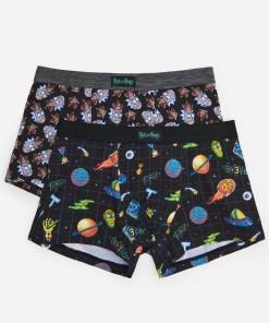 House - Pachet de 2 pantaloni scurți boxer Rick and Morty - Multicolor
