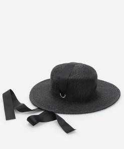Reserved - Pălărie de paie - Negru