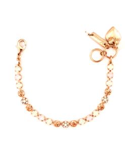 Bratara placata cu Aur roz de 24K, cu cristale Swarovski, Tiara Day   4008-2333RG
