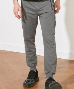 Pantaloni sport cu snur si garnituri de plasa 3582504
