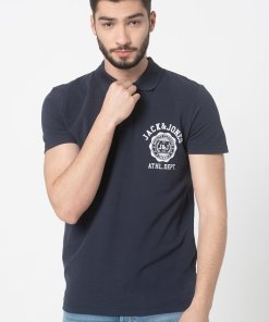 Tricou polo regular fit din material pique Flock 3533701