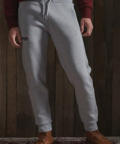 Pantaloni sport cu broderie logo discreta 3421378