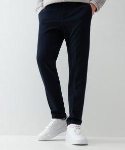 Reserved - Pantaloni super slim fit eleganți - Bleumarin