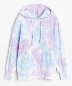 Reserved - Hanorac cu motiv tie-dye - Multicolor