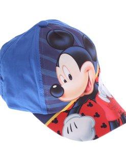 Sapca baieti Mickey albastra