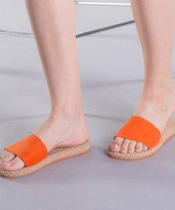 Papuci dama Zora portocalii