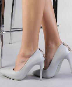 Pantofi stiletto Alida gri