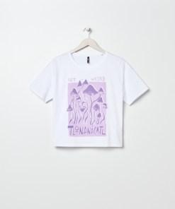 Sinsay - Tricou cu imprimeu - Alb