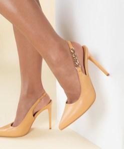 Pantofi stiletto Elemia Camel