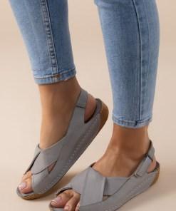 Sandale piele naturala Otniela Gri