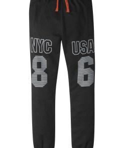 Pantaloni sport cu printuri - negru