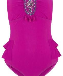 Costum de baie modelator - roz