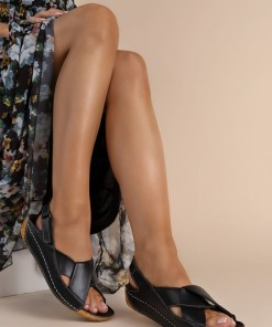 Sandale piele naturala Otniela Negre