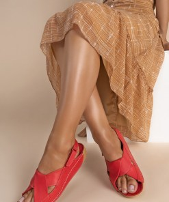 Sandale piele naturala Otniela V1 Rosii