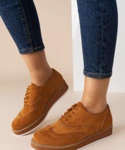 Pantofi Oxford Maidie Camel