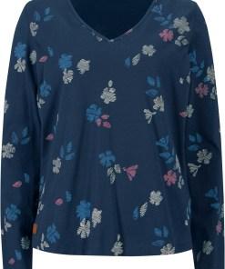Bluză din bumbac organic - albastru