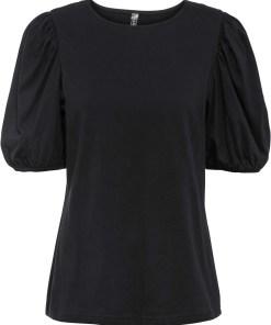 Bluză din bumbac bio - negru