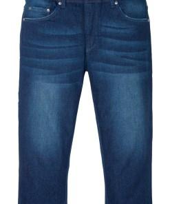 Blugi stretch 3/4 cu croi confortabil, Regular Fit - albastru