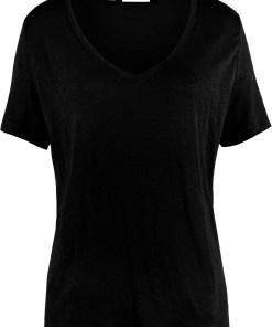 Bluză din 100% in - negru
