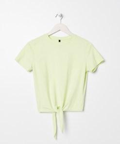 Sinsay - Tricou cu nod decorativ - Verde