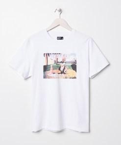 Sinsay - Tricou pentru bărbați - Alb