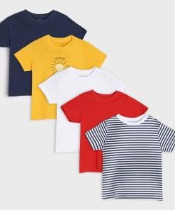 Sinsay - Set de 5 tricouri - Alb