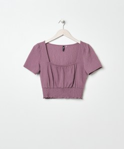 Sinsay - Tricou scurt - Violet