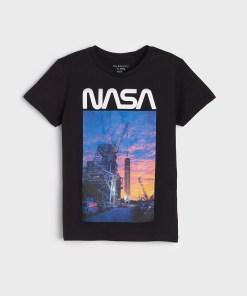 Sinsay - Tricou NASA - Negru
