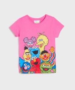 Sinsay - Tricou Sesame Street - Alb