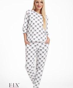 Pijama dama bumbac organic 4010 M