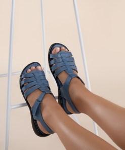 Sandale piele naturala Richelle Albastre